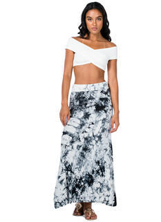 Under The Boardwalk Tie-Dye Maxi Skirt