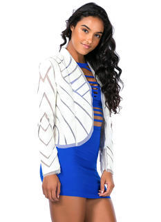 Follow The Lines Floating Mesh Blazer
