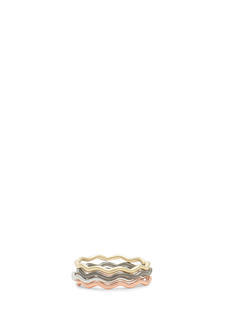 Wavy Mixed Metallic Ring Set