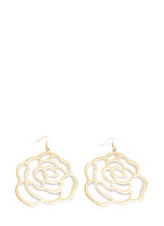 Oversized Cut-Out Flower Plate Earrings