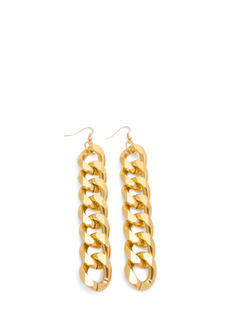 Chunky Curb Link Chain Earrings