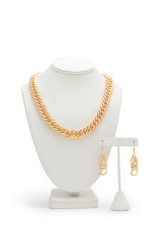 Shine On Curb Link Necklace Set