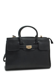 Pebbled Faux Leather Satchel