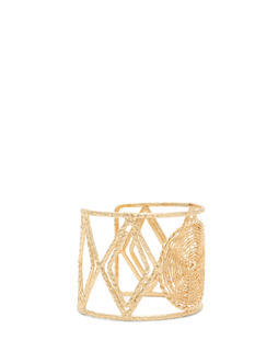 Cut-Out Textured Wire Cuff
