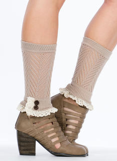 Crochet Double Button Boot Cuffs