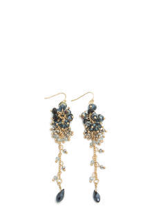 Dangling Beaded Cluster Earrings