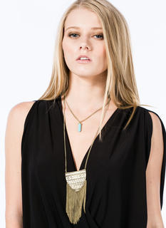 Tribal 'N Stone Double-Sided Necklace