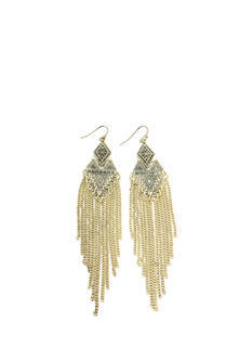 Tribal Fringe Dangle Earrings
