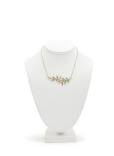 Olive Branch Charm Necklace