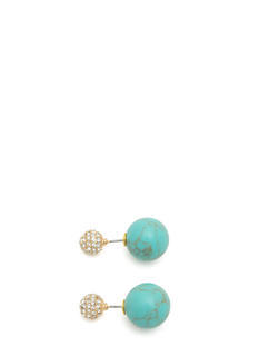 Double-Sided Stone Backdrop Earrings