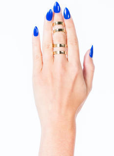 Double Chained Cut-Out Ring Duo