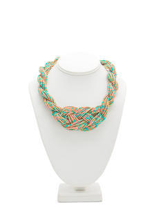 Beaded Twist 'N Braid Necklace