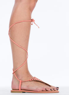 Geometric Laser Cut-Cut-Out Sandals