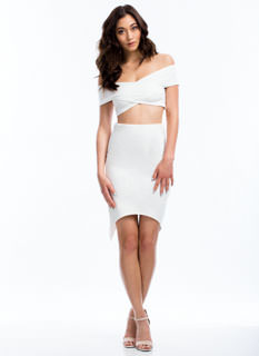 X Factor Surplice Back Pencil Skirt