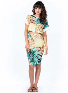 Pineapple A Day Pencil Skirt