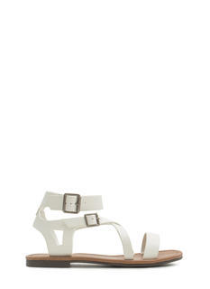 Explorer Strappy Faux Leather Sandals