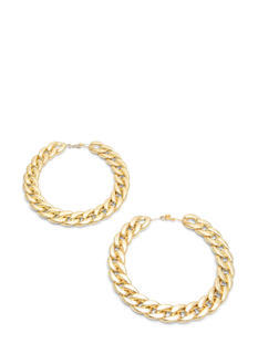 Oversized Curb Chain Hoop Earrings