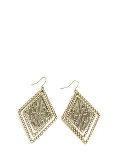 Tribal Concentric Diamond Earrings