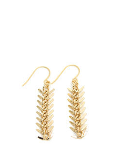 Handmade Backbone Chain Earrings