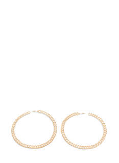 Extra Shiny Chained Hoop Earrings