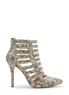 Laddered Cage Pointy Heels