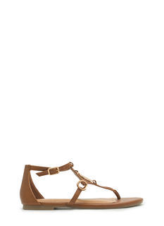 Medal Contender Strappy Ring Sandals