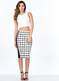 Power Grid Slit Skirt