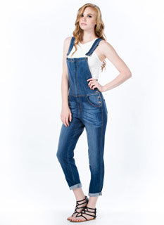 Zip 2 The Front Denim Overalls