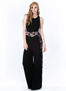 Lady Lace Paneled Jumpsuit