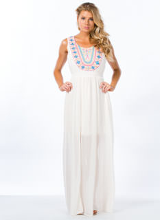 Go Tribal Embroidered Maxi Dress