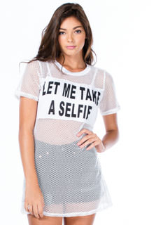 Let Me Take A Selfie Mesh Top