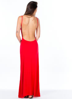 Low And Behold Strappy Open Back Maxi