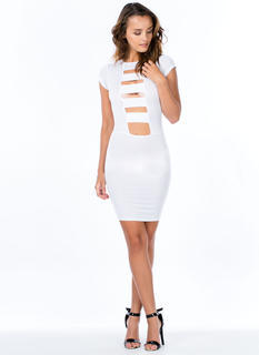 Work Up A Ladder Caged Cut-Out Dress