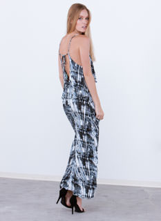 Tier Pressure Tie-Dye Maxi Dress