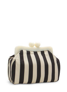 Striped Ball Clasp Clutch