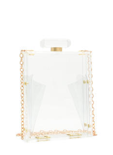 Lucite Perfume Bottle Clutch