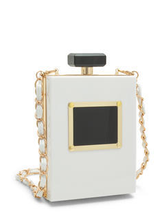 Plate Night Perfume Bottle Clutch