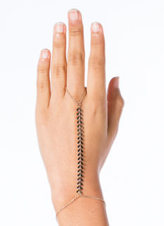 Mini Chevron Chain Hand Bracelet