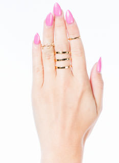 Olive Branch Midi Five-Ring Set
