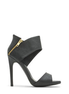Haute Date Faux Leather Heels