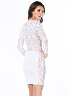 Lace Is More Contrast Bodycon Dress