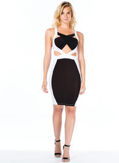 Colorblock It Out Cut-Out Bodycon Dress