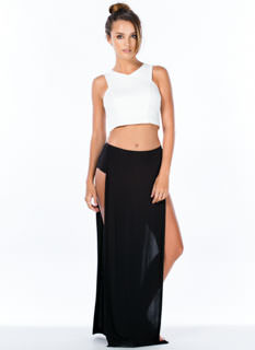 Gotta Split Double Slit Maxi Skirt