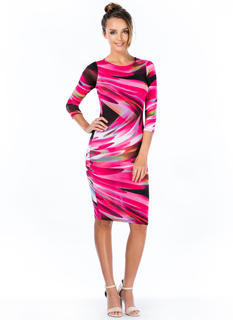 Ripple Effect Abstract Print Dress