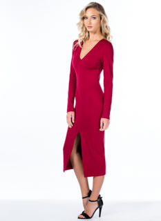 Slit To Fit Bodycon Dress