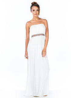 Grecian Tile Ribbon Maxi Dress