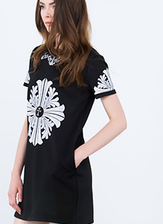 Cross My Heart Baroque Shift Dress