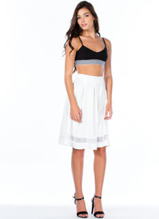 Let's Mesh Around A-Line Midi Skirt