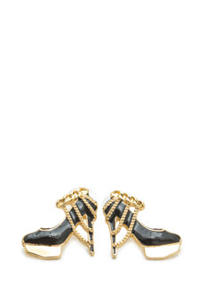 Chain Decorated Heel Earrings