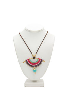 Tribal Rainbow Pendant Necklace